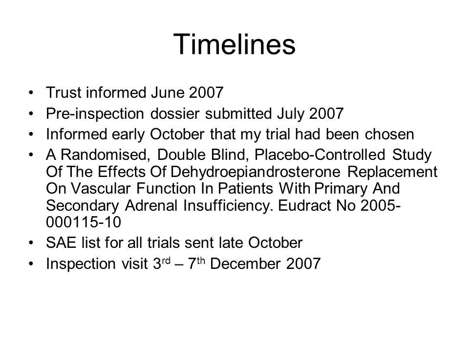 Timelines Trust informed June 2007