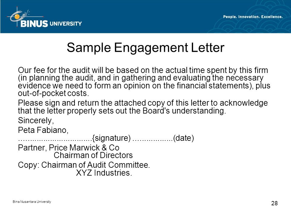 Audit Charter Dan Letter Of Engagement Pertemuan Ppt Download