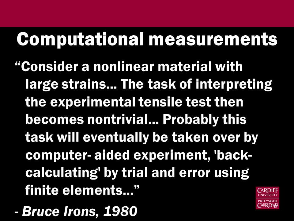 Computational measurements