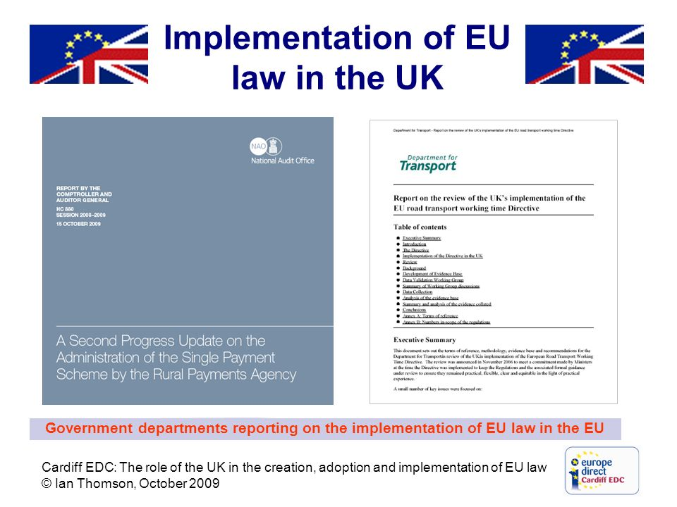 Implementation of EU law in the UK