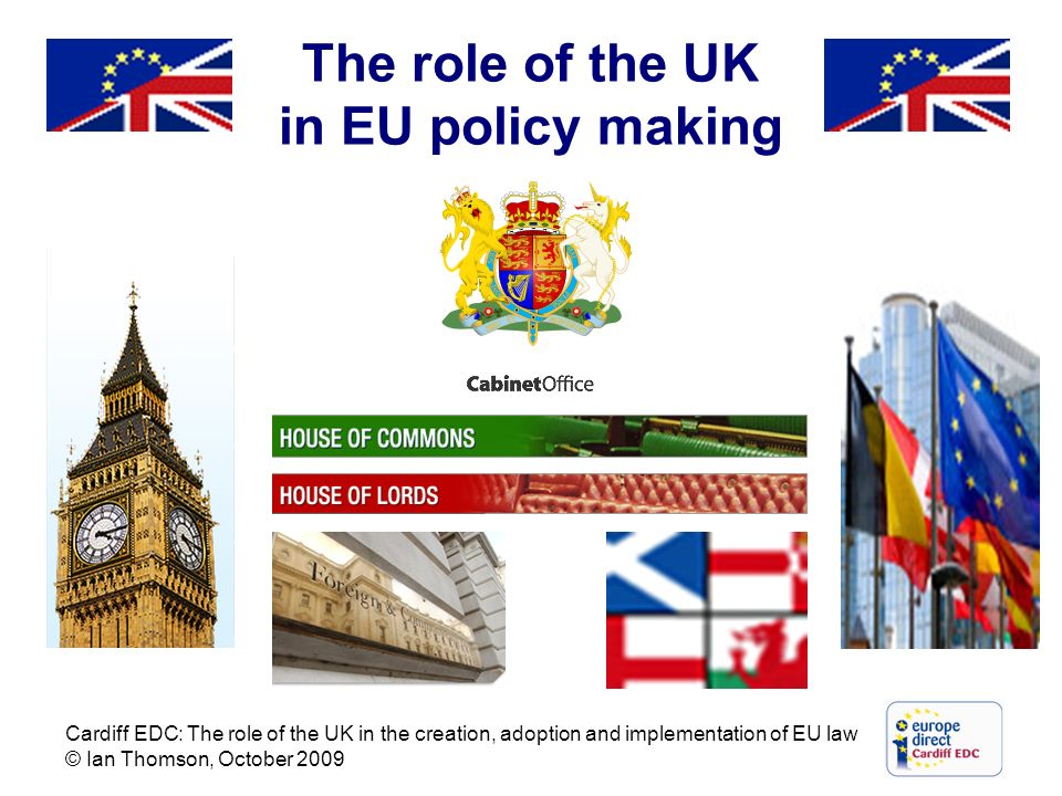 The role of the UK in EU policy making