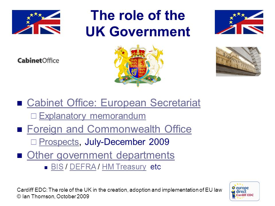 The role of the UK Government