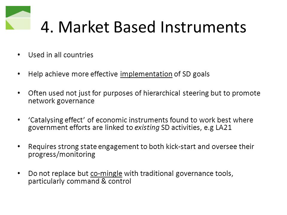 4. Market Based Instruments