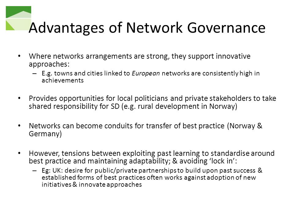 Advantages of Network Governance