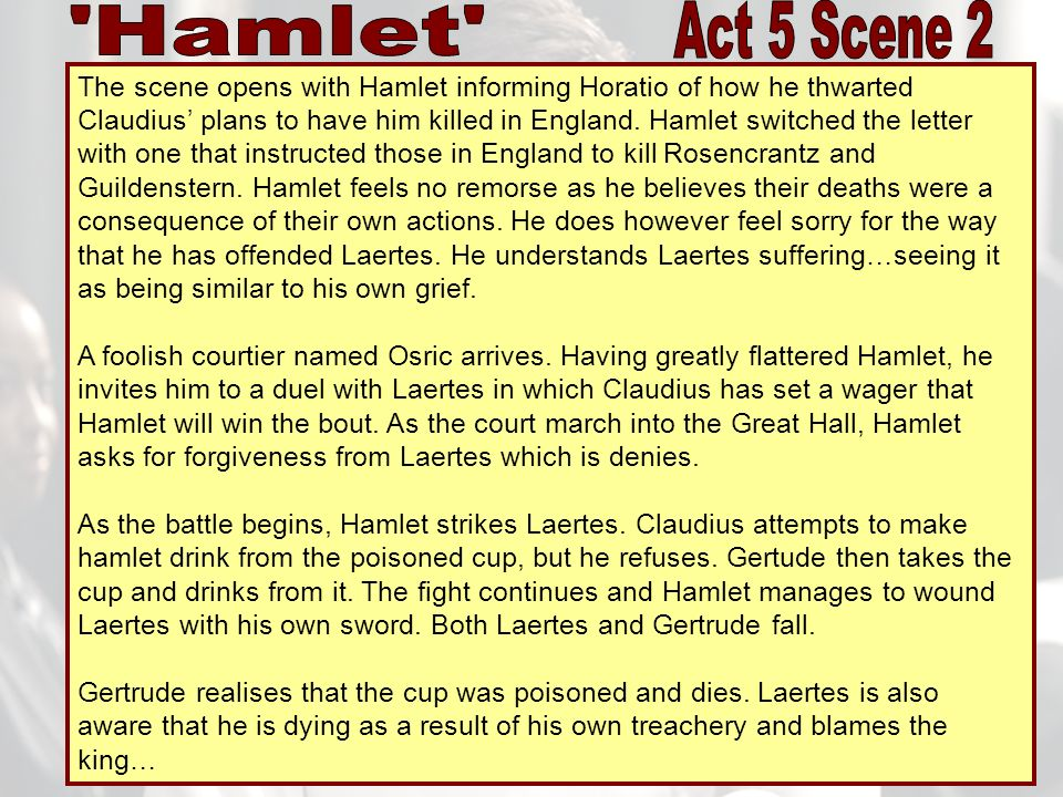hamlet act 1 scene 5 Read this essay on hamlet, act 1, scene 5 analysis come browse our large digital warehouse of free sample essays get the knowledge you need in order to pass your classes and more.