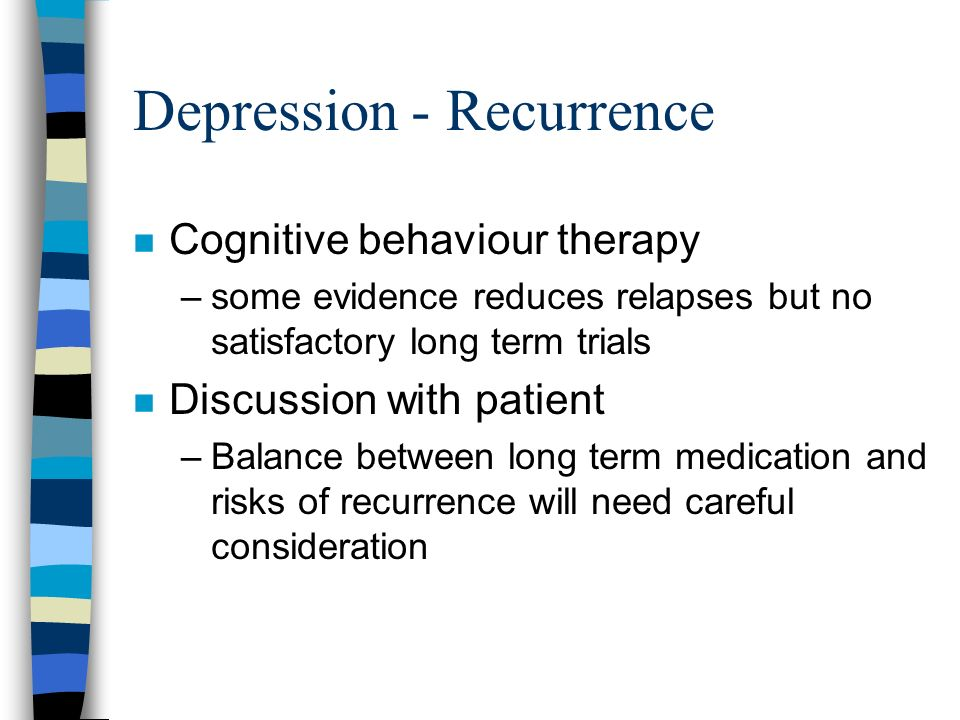Depression - Recurrence