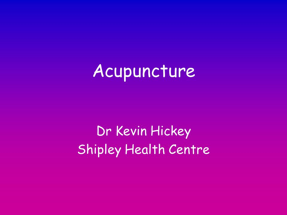 Dr Kevin Hickey Shipley Health Centre