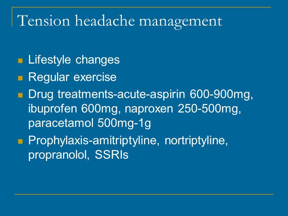 Tension headache management