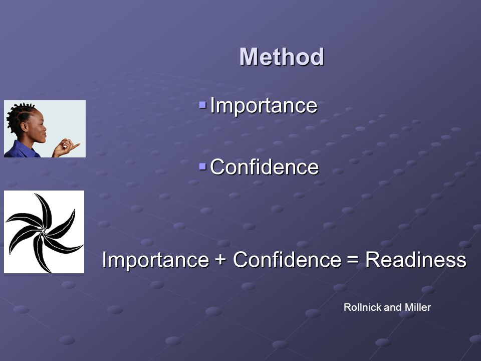 Importance + Confidence = Readiness