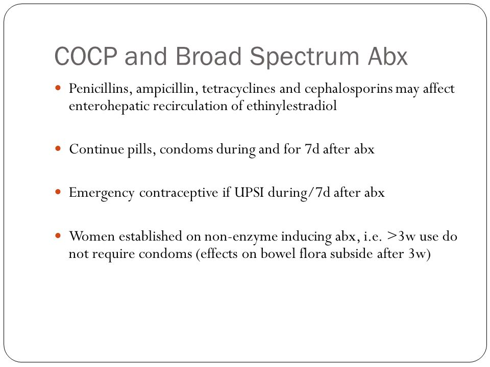 COCP and Broad Spectrum Abx