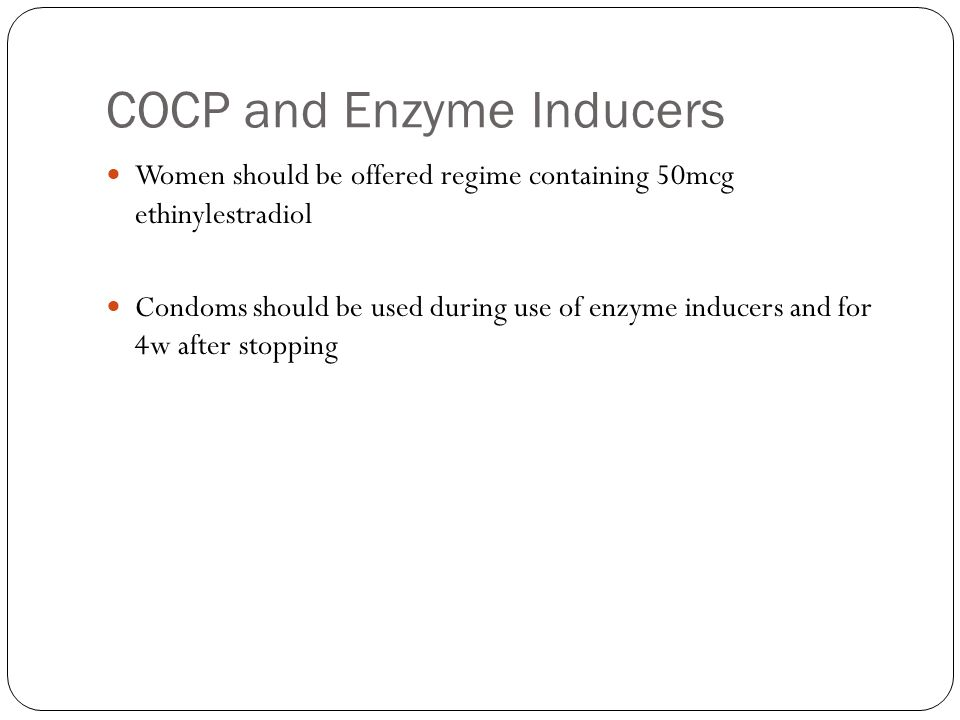 COCP and Enzyme Inducers