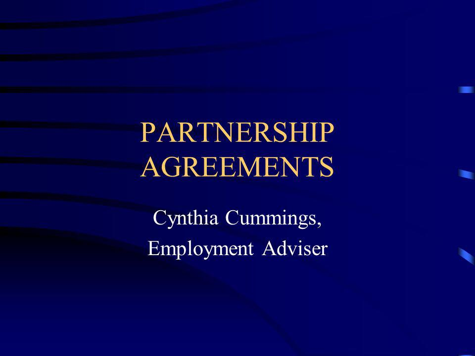 PARTNERSHIP AGREEMENTS