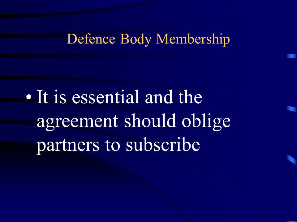 Defence Body Membership