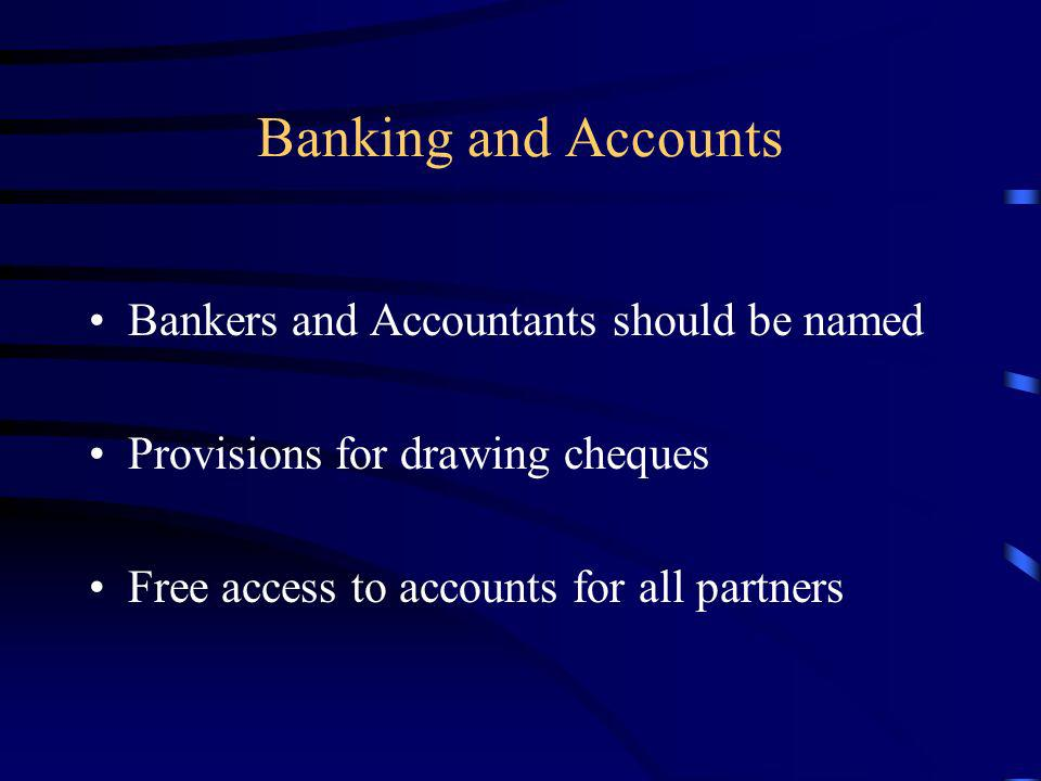 Banking and Accounts Bankers and Accountants should be named
