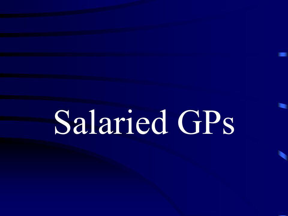 Salaried GPs