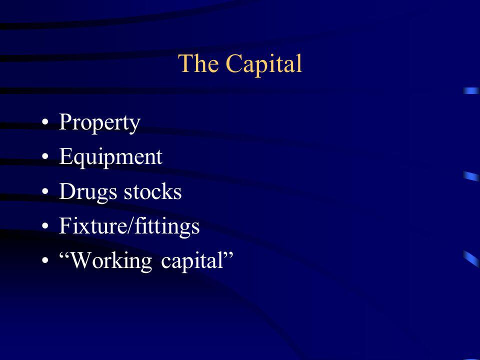 The Capital Property Equipment Drugs stocks Fixture/fittings