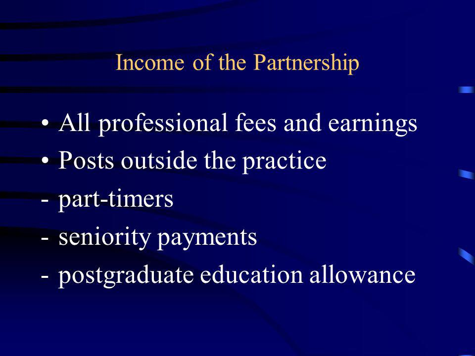 Income of the Partnership