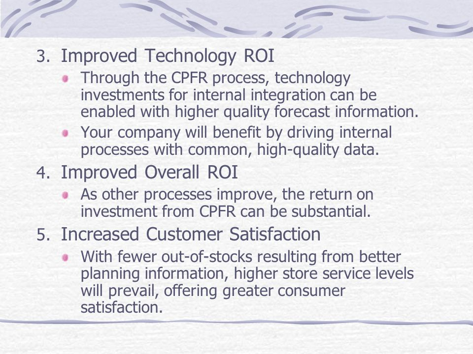 Improved Technology ROI