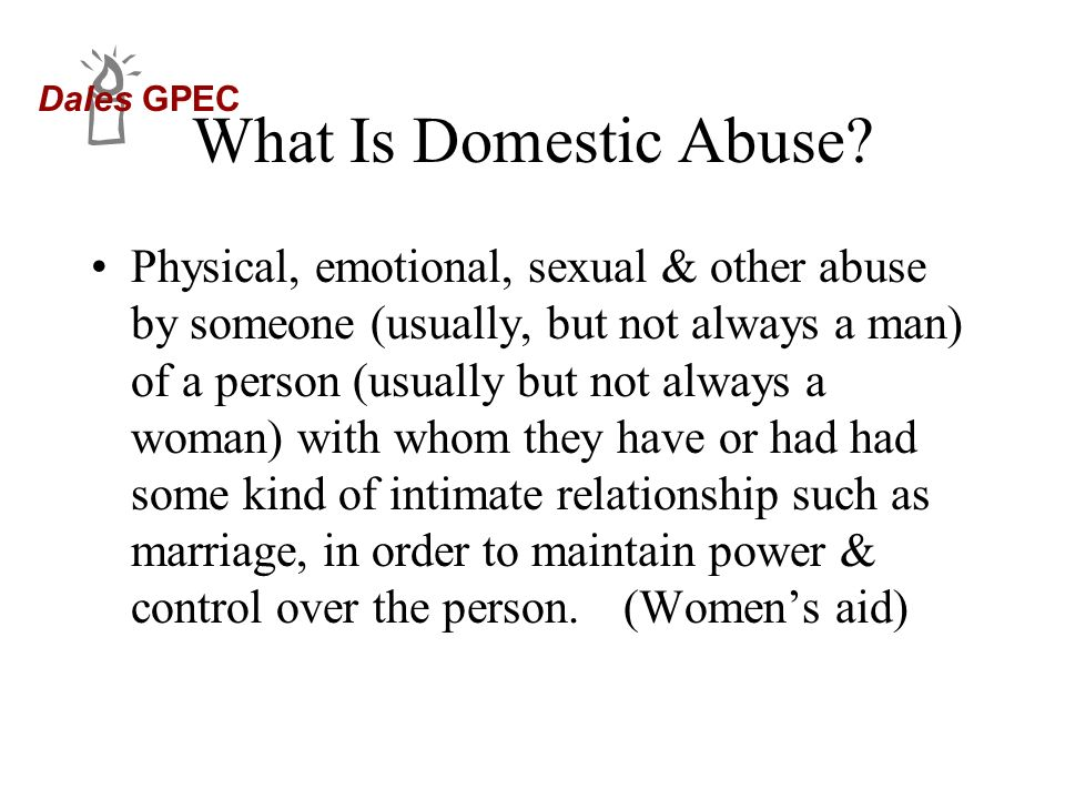 What Is Domestic Abuse