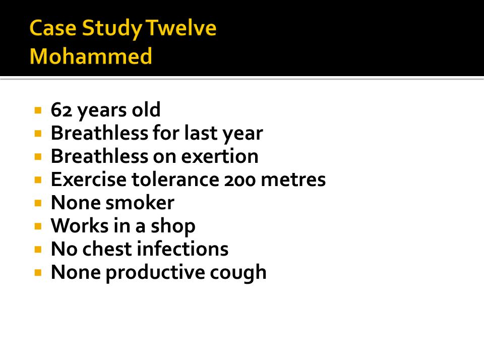 Case Study Twelve Mohammed