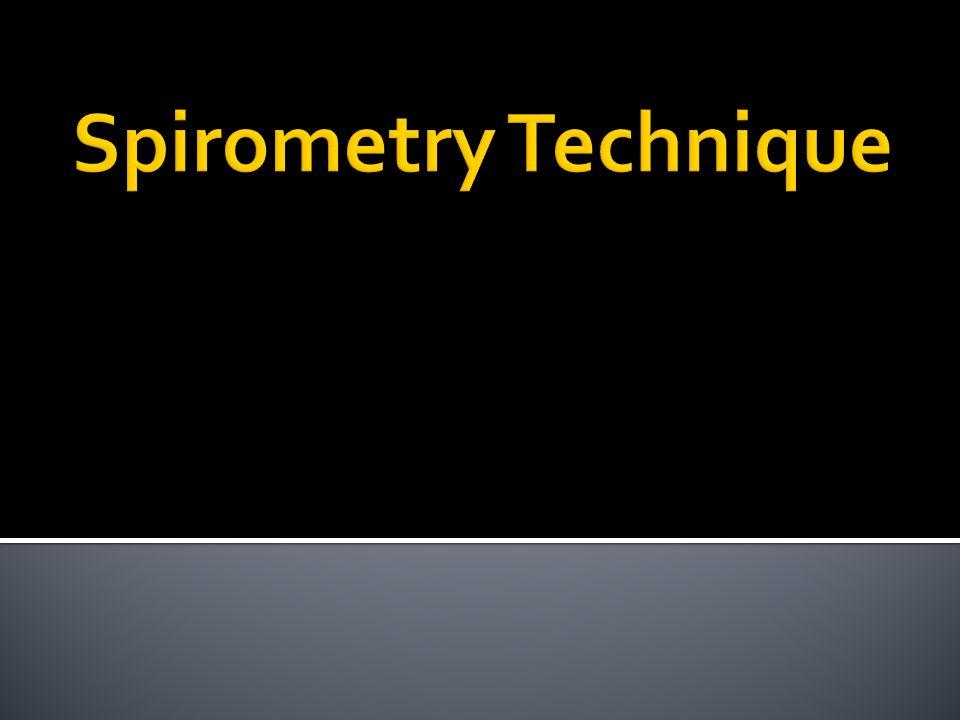 Spirometry Technique