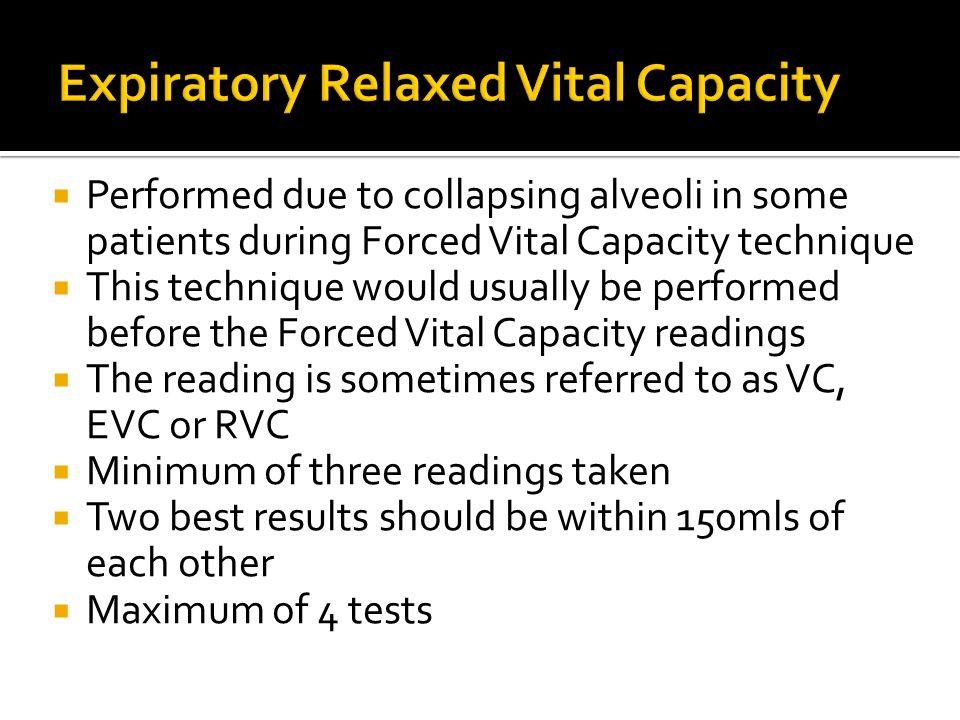 Expiratory Relaxed Vital Capacity