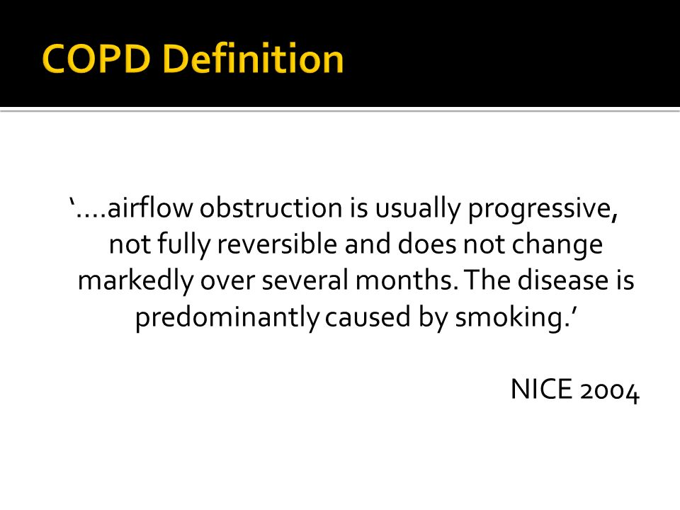 COPD Definition