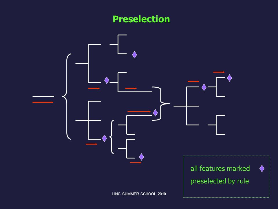Preselection all features marked preselected by rule