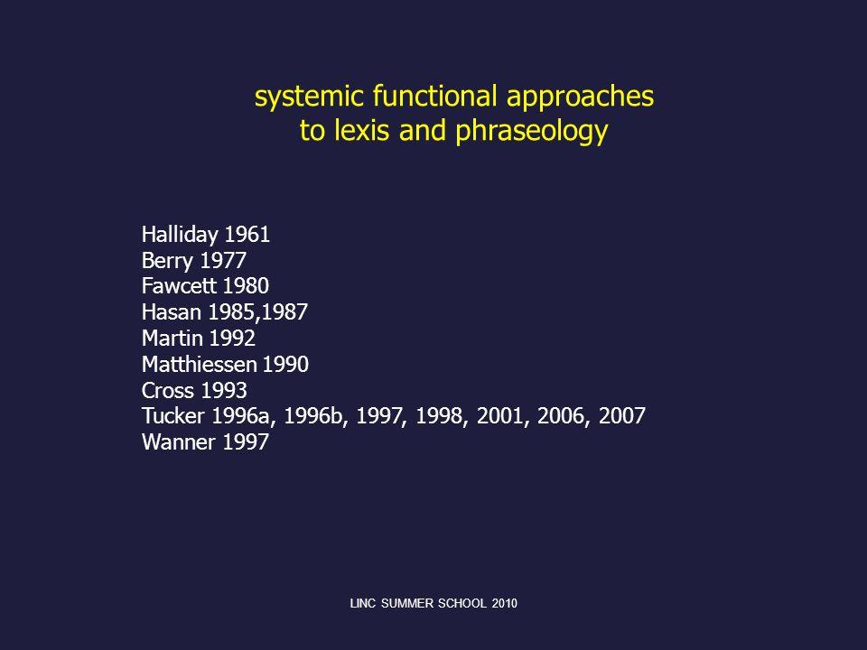 systemic functional approaches to lexis and phraseology
