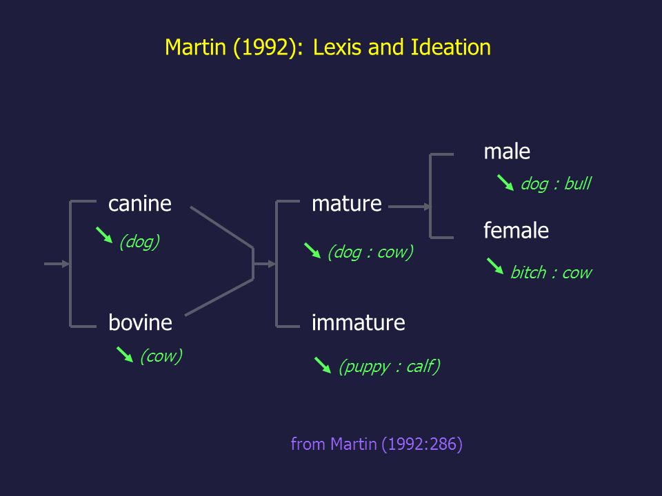Martin (1992): Lexis and Ideation