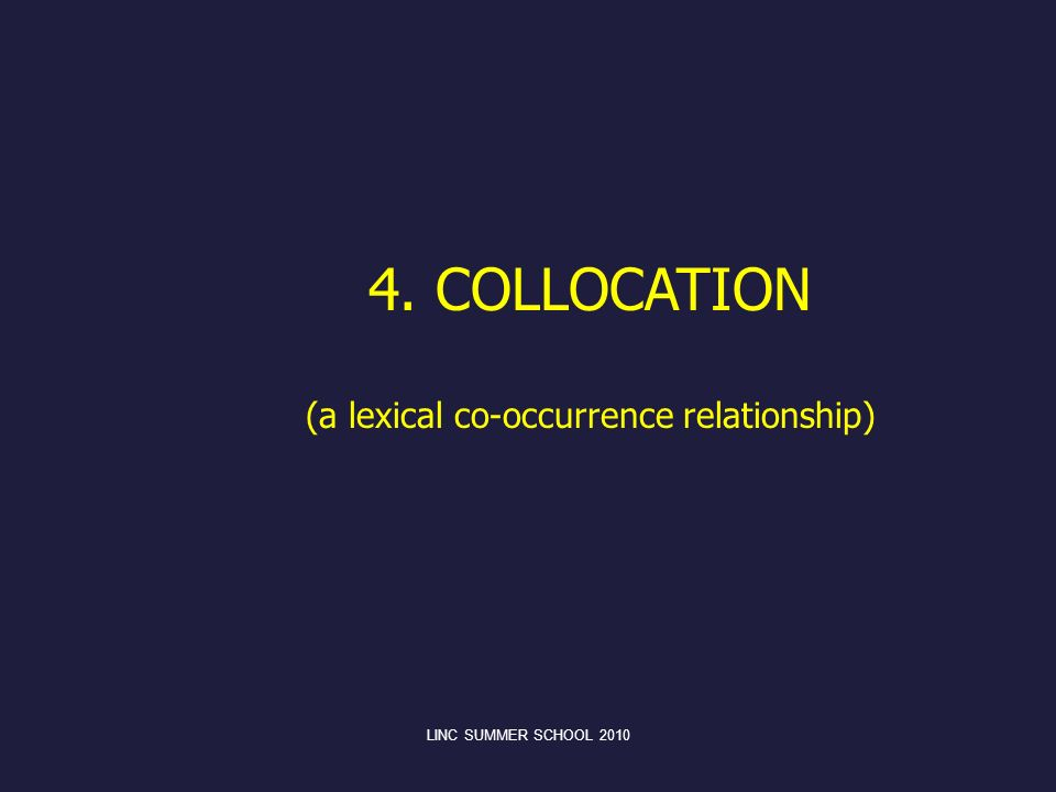 (a lexical co-occurrence relationship)