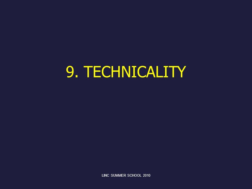 9. TECHNICALITY LINC SUMMER SCHOOL 2010