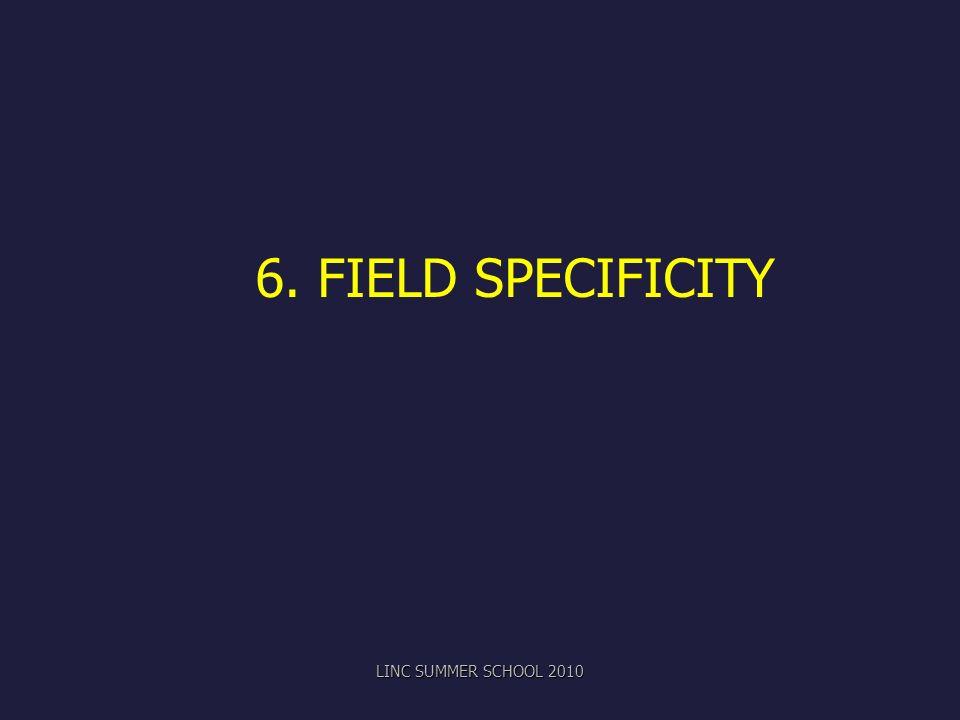 6. FIELD SPECIFICITY LINC SUMMER SCHOOL 2010