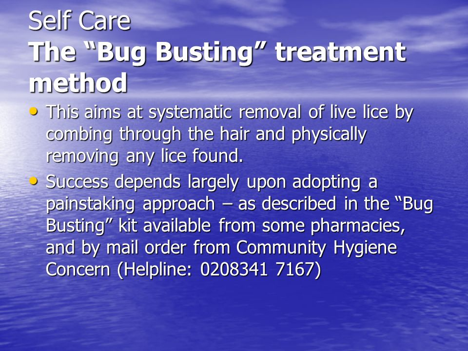 Self Care The Bug Busting treatment method