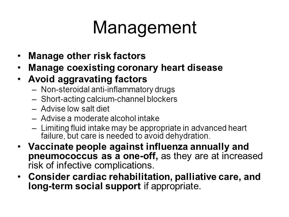 Management Manage other risk factors