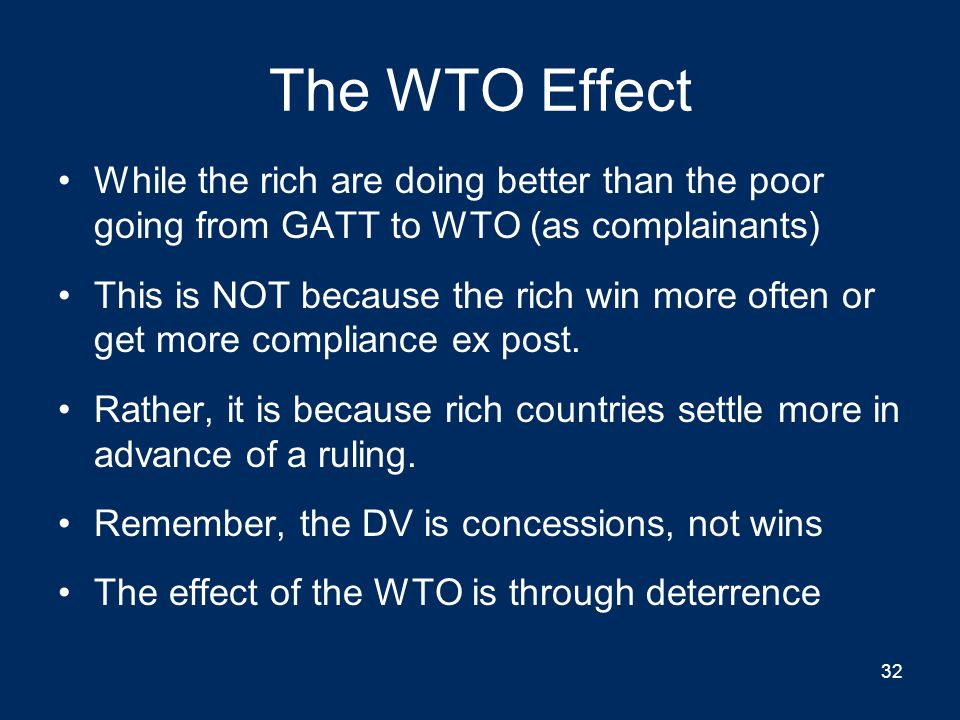 The Dark Side Of The WTO