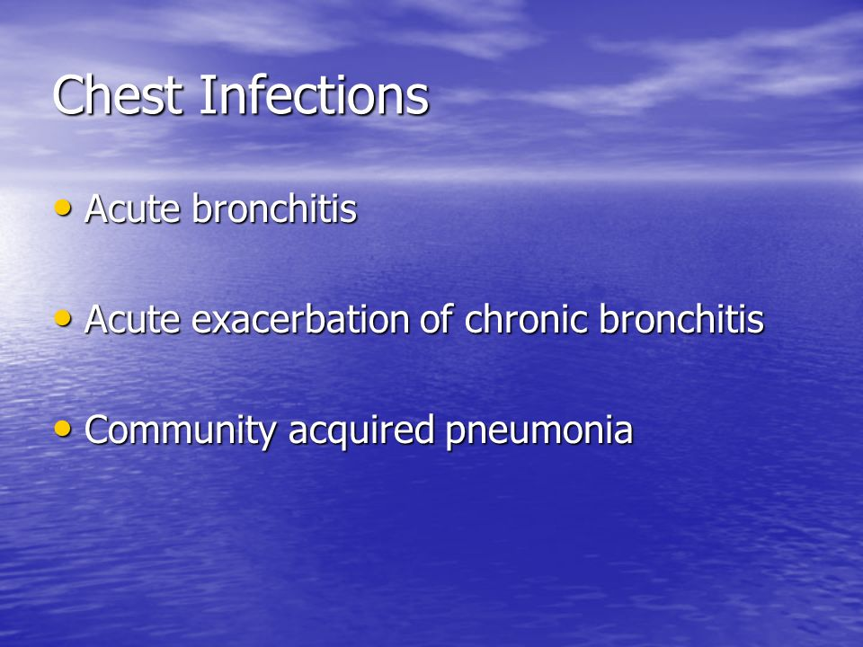 Chest Infections Acute bronchitis
