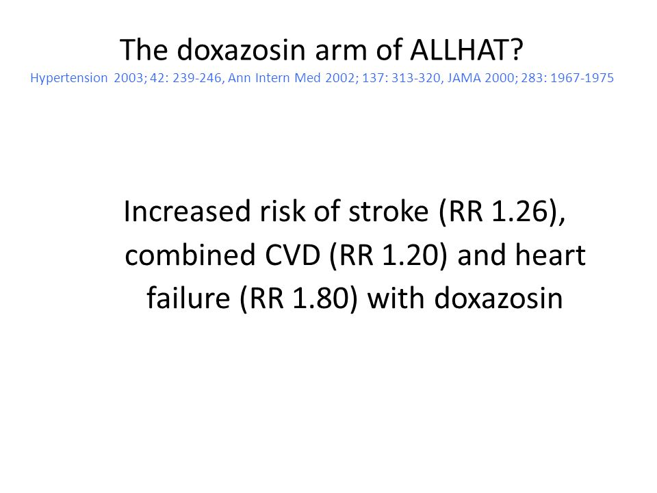 The doxazosin arm of ALLHAT