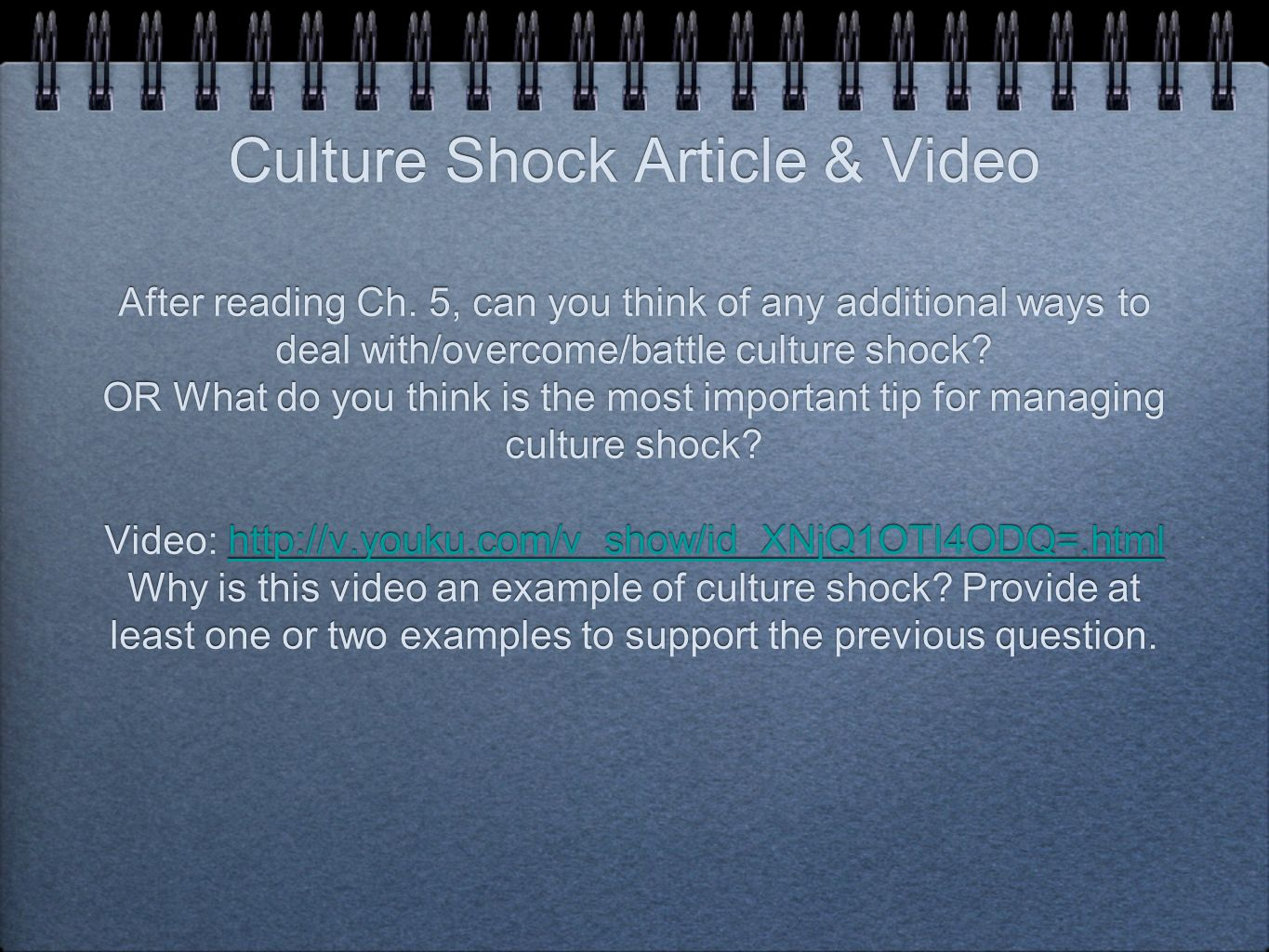 Culture shock story essay