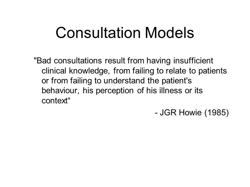 Consultation Models