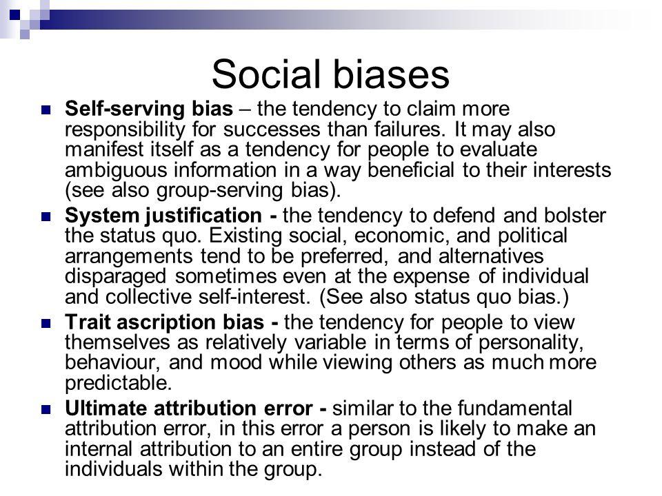 Social biases