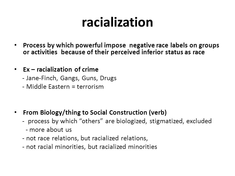 racialized crime Racial profiling: • when members of certain racial or ethnic groups are subjected  to greater levels of criminal justice surveillance than others • typically defined.