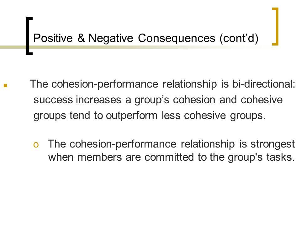 Positive & Negative Consequences (cont'd)