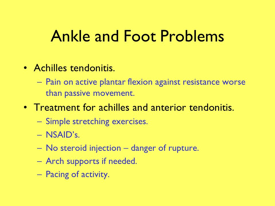 Ankle and Foot Problems