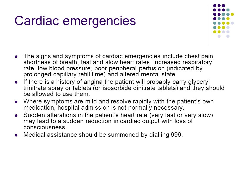 Cardiac emergencies