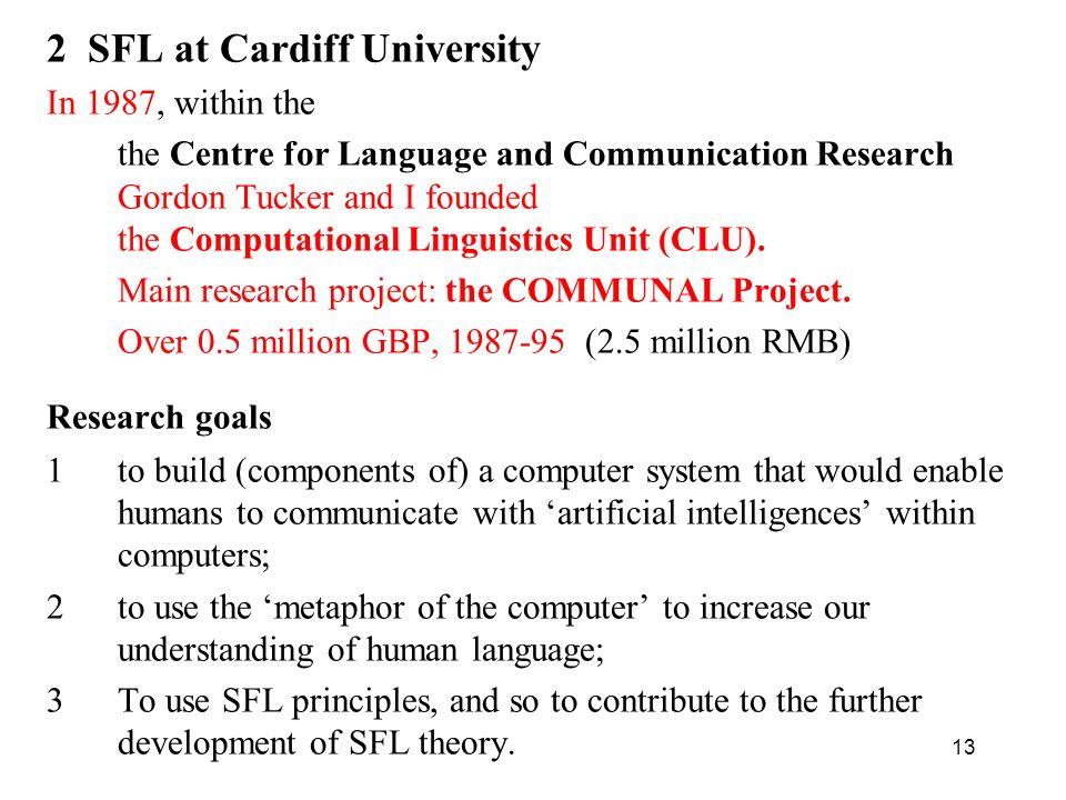 2 SFL at Cardiff University