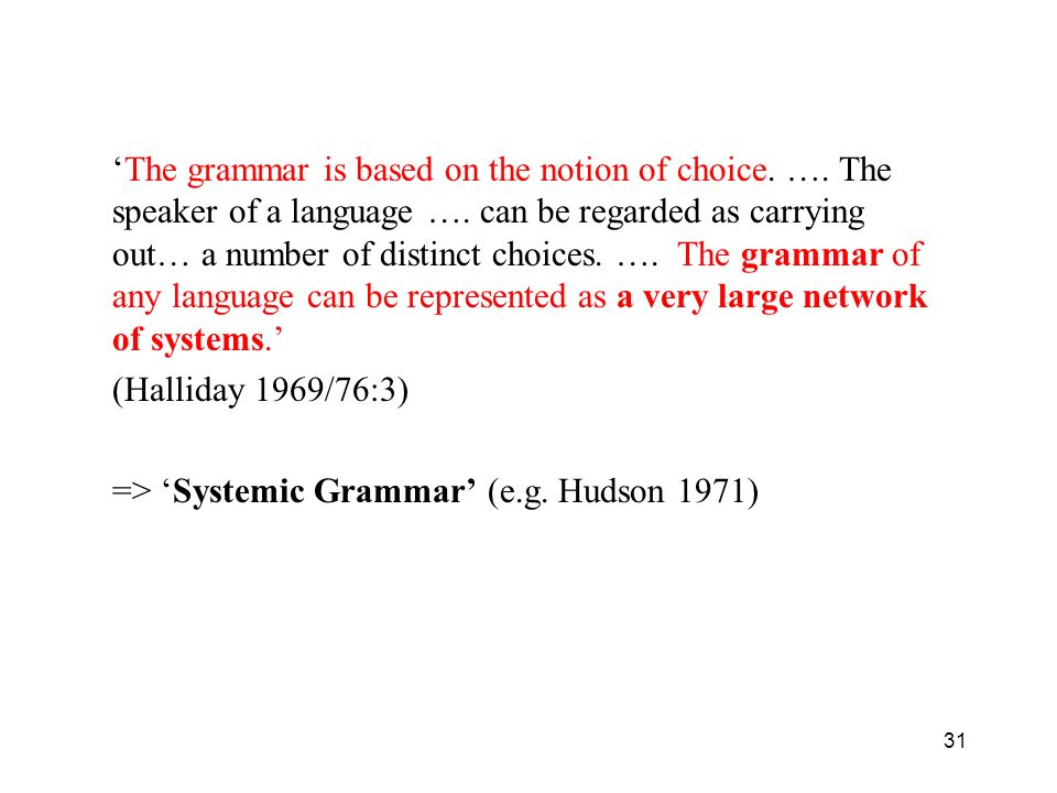 'The grammar is based on the notion of choice. …