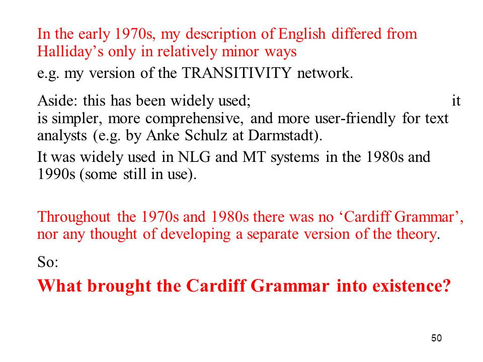 What brought the Cardiff Grammar into existence