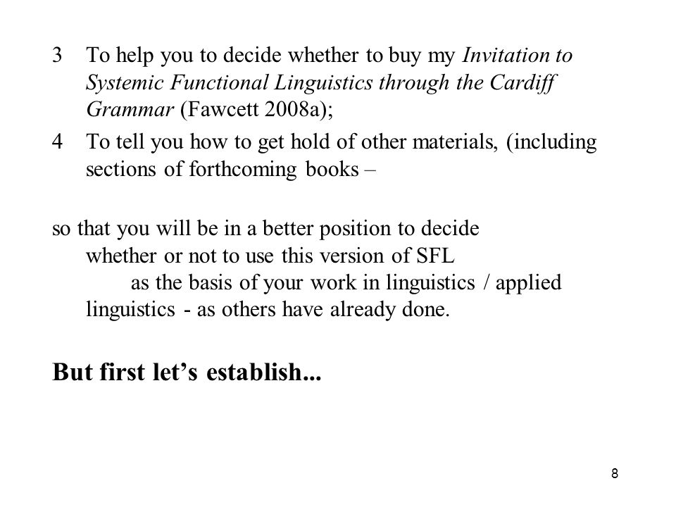 But first let's establish...