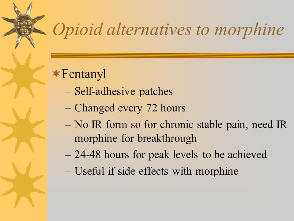 Opioid alternatives to morphine